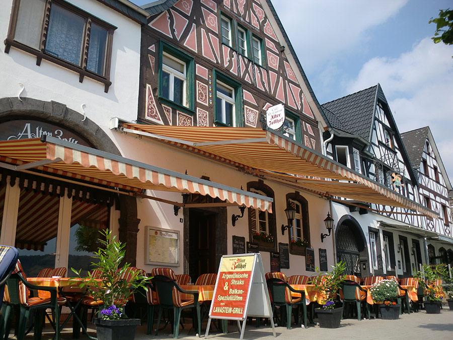 restaurant alter zollhof balkan k che die rheinpromenade in bad breisig. Black Bedroom Furniture Sets. Home Design Ideas